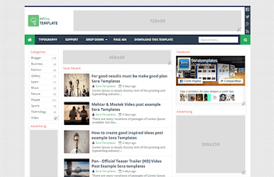 mBlog Responsive Blogger Template