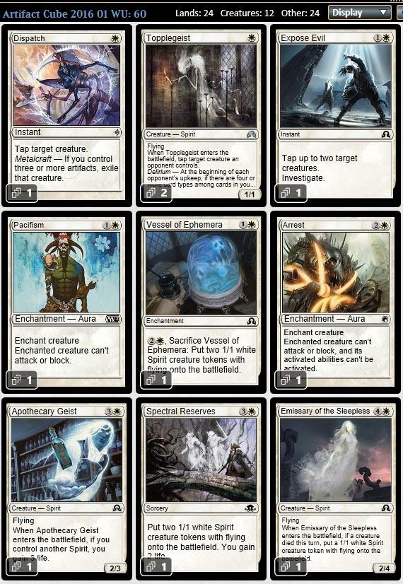 Magic the Gathering Adventures: Artifact Cube 2016 Draft: Three