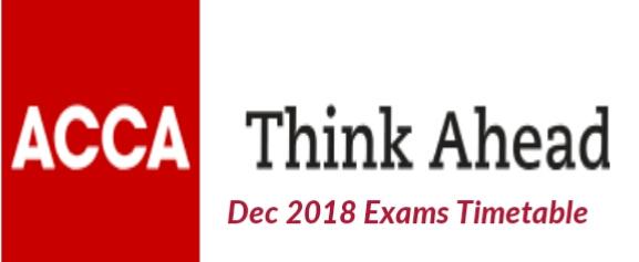 Acca exam dates december 2018