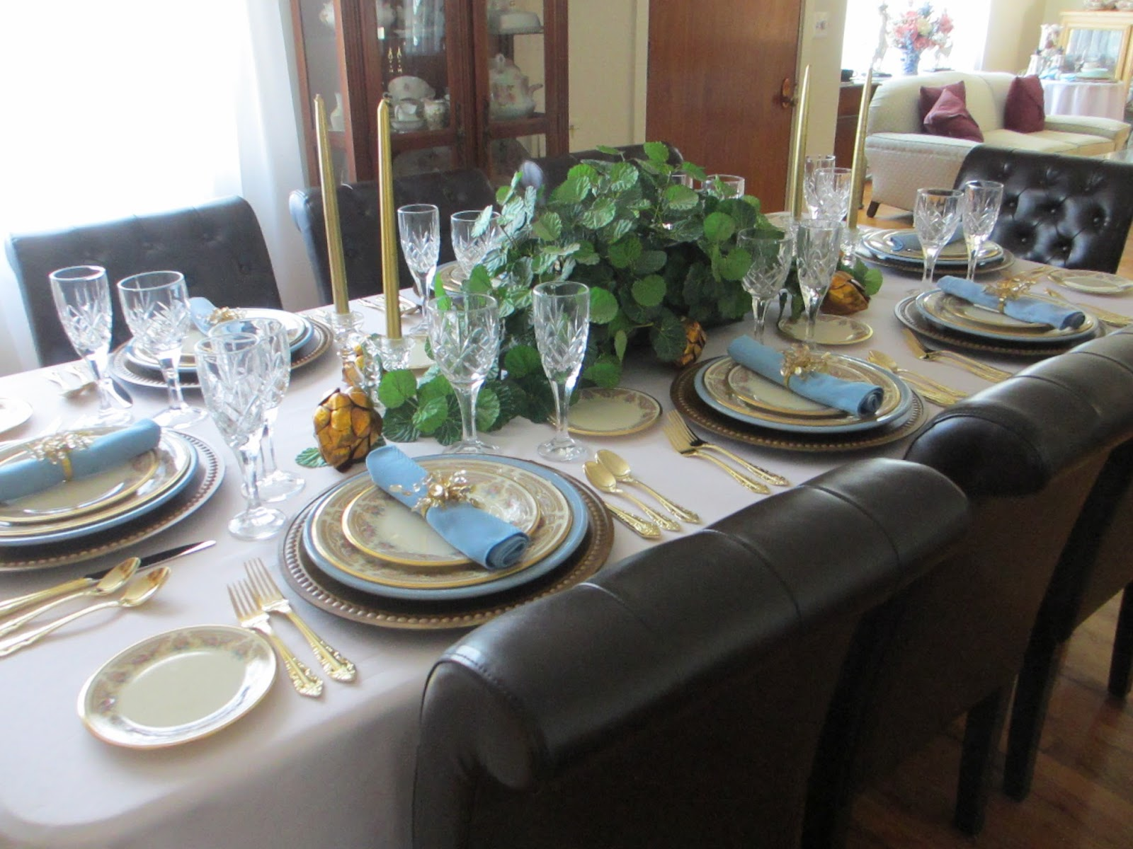 The welcomed guest lenox versailles tablescape for Table 6 lenox