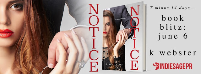 [New Release] NOTICE by K Webster @KristiWebster @IndieSagePR #Playlist #Giveaway #UBReview