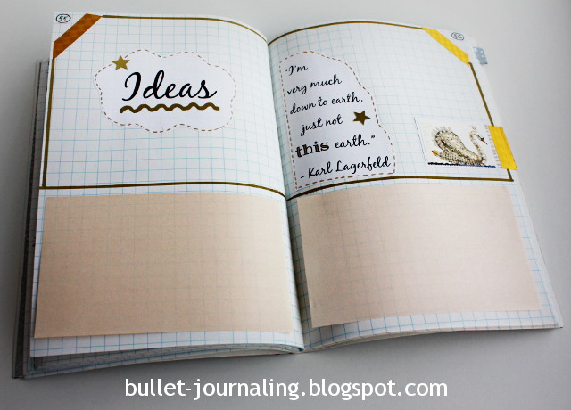 Post-it-notes in bullet journal