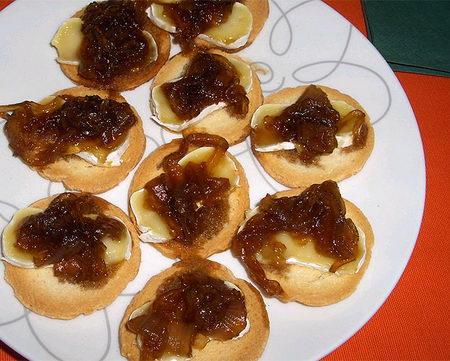 Las recetas de blanca for Canape de pate con cebolla caramelizada