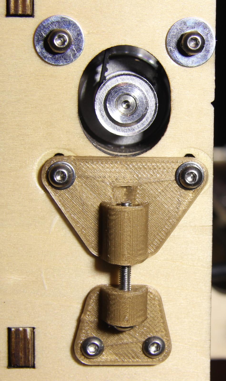 3d printer improvements short belt tensioner for nema 17 stepper motors. Black Bedroom Furniture Sets. Home Design Ideas
