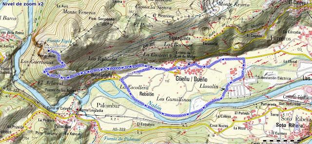Mapa ruta Bueño Peña Avis