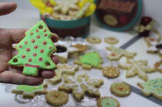 Receta de Galletas navideñas de avena faciles y rapidas