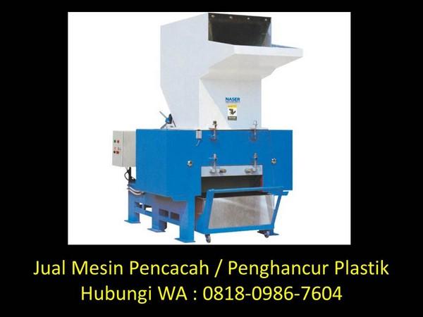 cara kerja mesin penghancur plastik di bandung