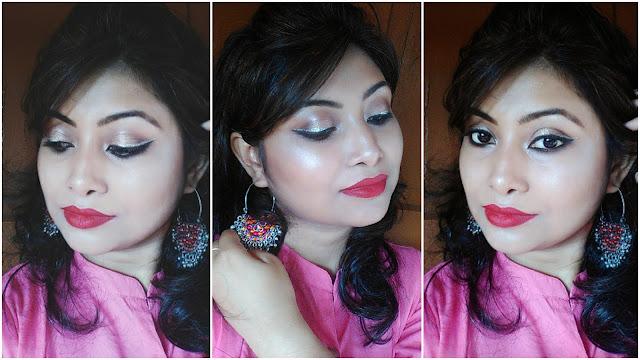 Subtle Glitter Glam Eye Make up Look | Festive Make up Look