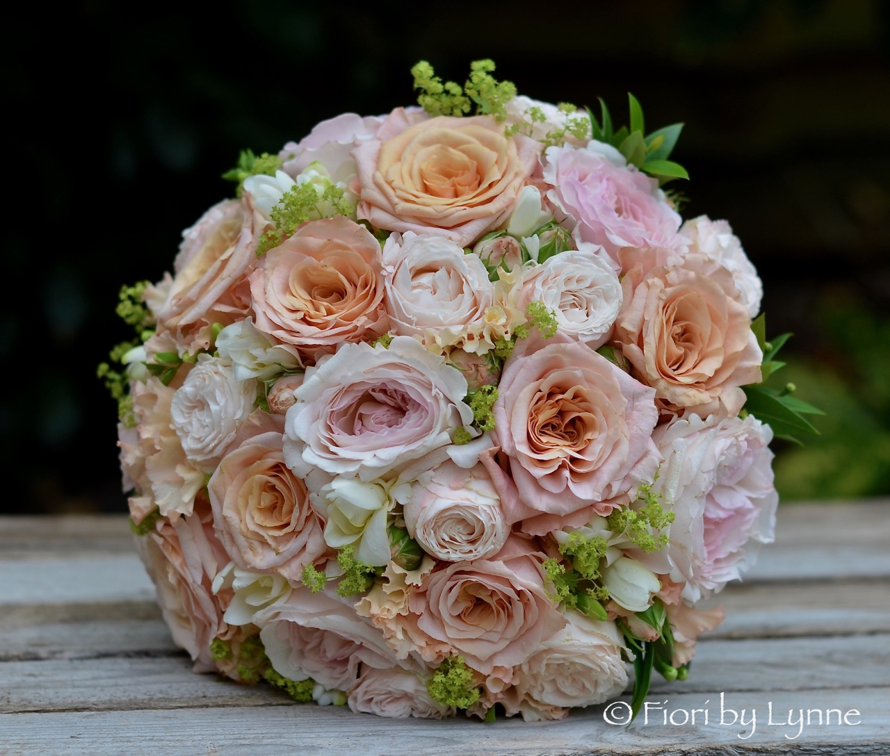 Wedding Flowers Blog Karens Coppergold Peach And Pink Wedding