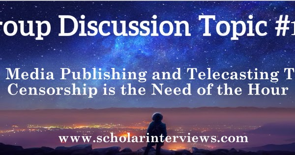 with media publishing and telecasting trivia censorship is the need of the hour Influence of social media  value-based politics is the need of the hour:  with media publishing and telecasting trivia, censorship is the need of the.