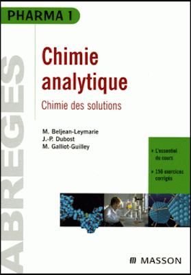 Télécharger Livre Gratuit Chimie analytique, Chimie des solutions - Abrégés Pharma 1 pdf