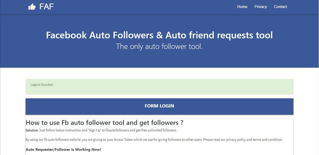 fb auto followers