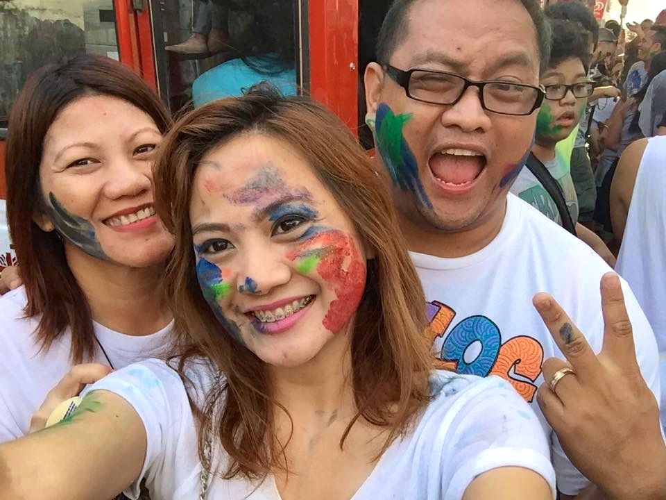 Maan Reyes, Lot Gripo, and Carlo Olano at the Sinulog 2015 Robinsons Homes team