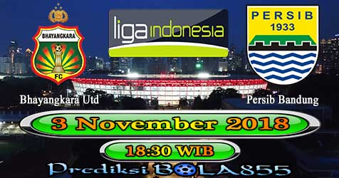 Prediksi Bola855 Bhayangkara Utd vs Persib Bandung 3 November 2018