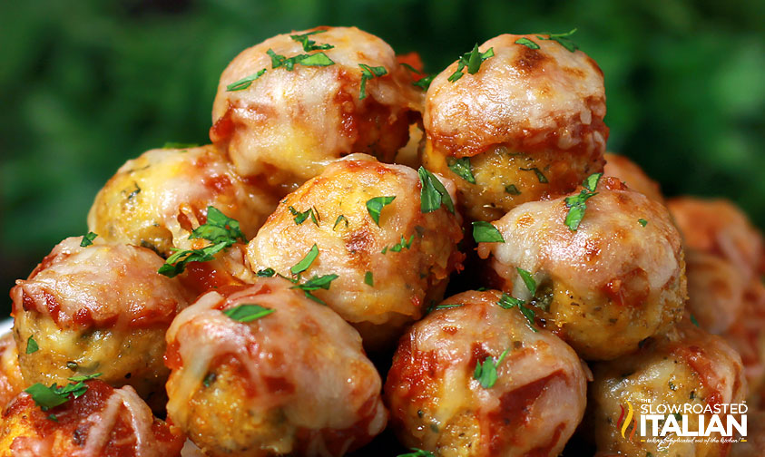 Chicken Parmesan Meatballs With Video