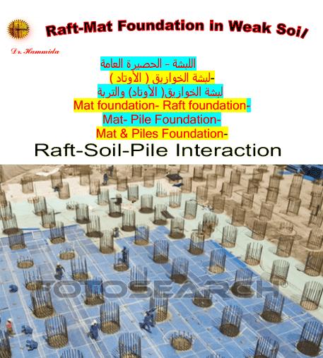 Raft Mat Foundation on Weak Soil