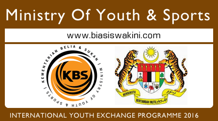 International Youth Exchange Programme 2016 By Ministry of Youth & Sports Malaysia