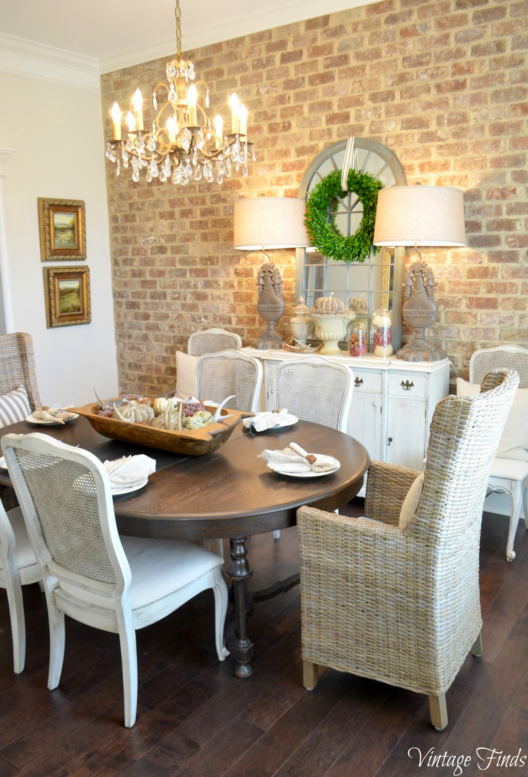 Vintage Finds: Fall Dining Room