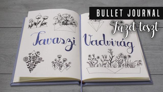 Tavaszi vadvirág rajzok - Spring Wildflower doodles