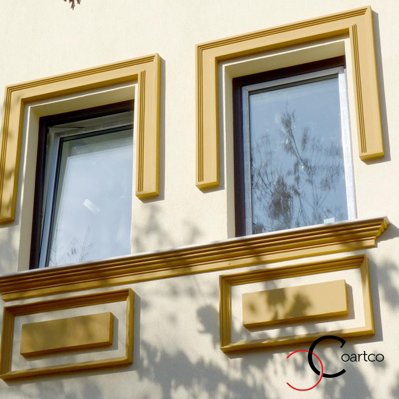 Modele de profile polistiren pentru ferestre pentru exterior pe fatada casei