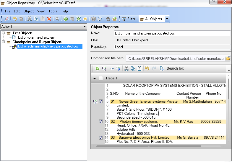 UFT Questions: QTP - UFT - File Content Checkpoint in UFT