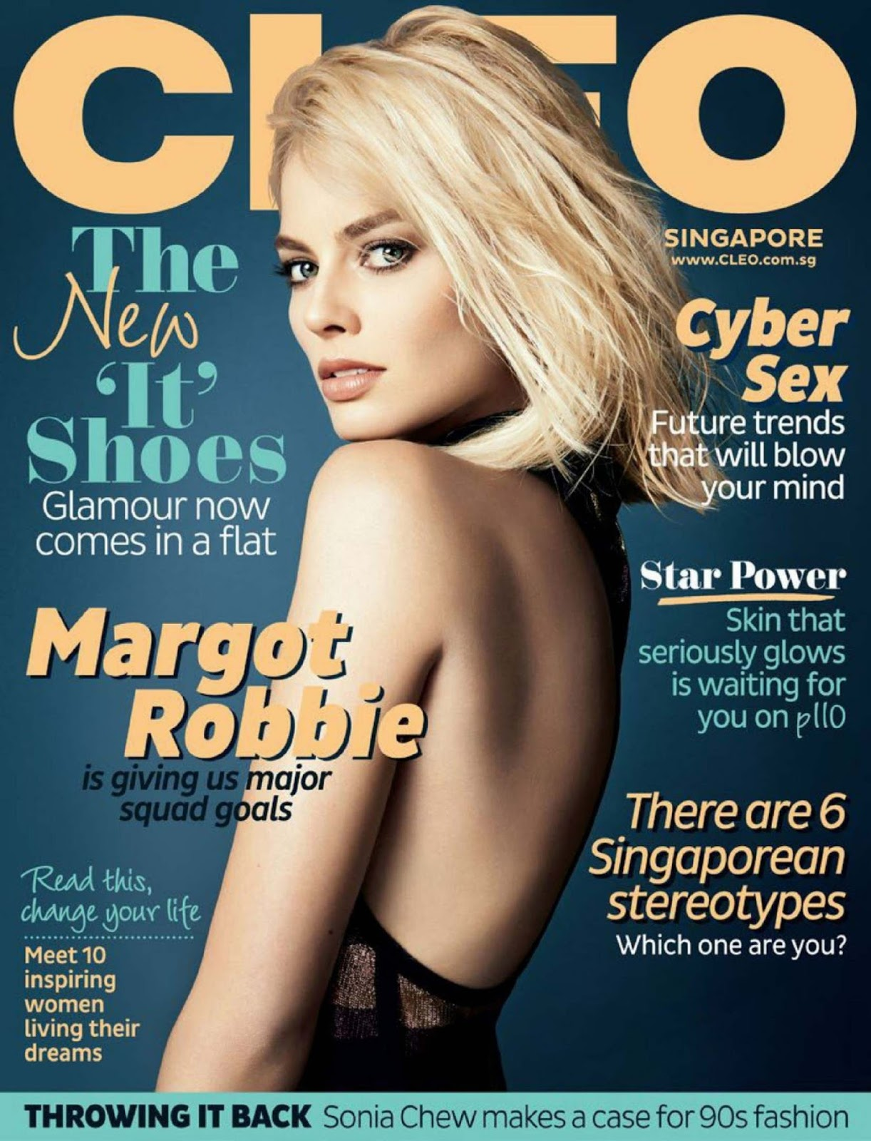Margot Robbie covers Cleo Singapore August 2016
