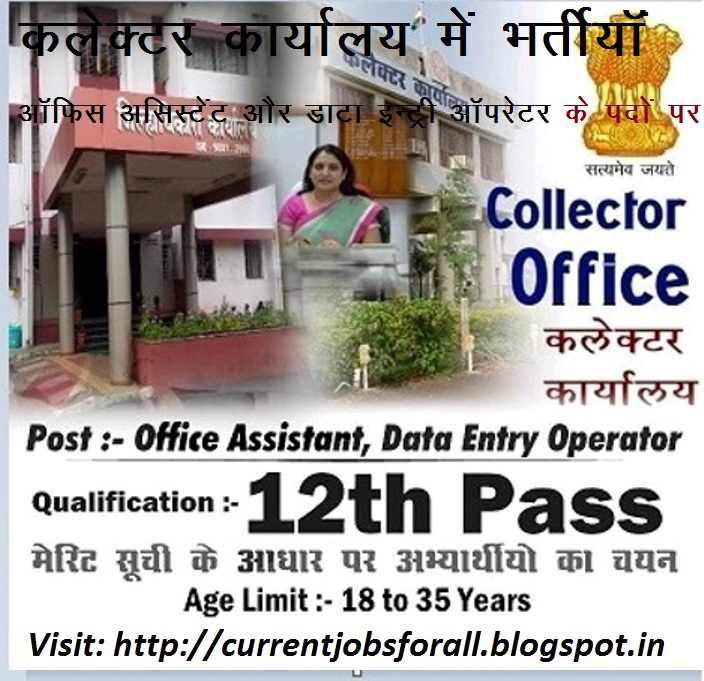 Collector Office Recruitment: Recruitment of Data Entry Operator