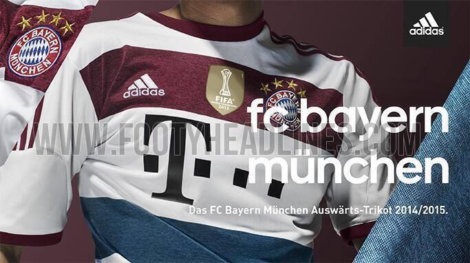 Bayern Munich 2014-2015 away kit released