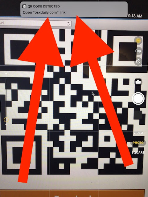 QR Codes iOS 11 iphone ipad