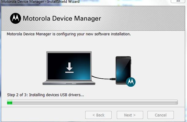 Motorola Device Manager Installation Step 4C