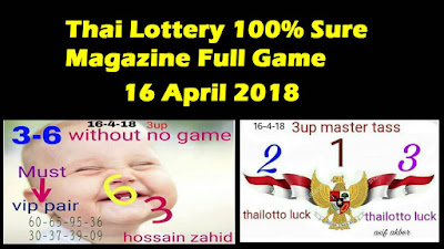 Thai Lottery 100% Sure Magazine Full Game