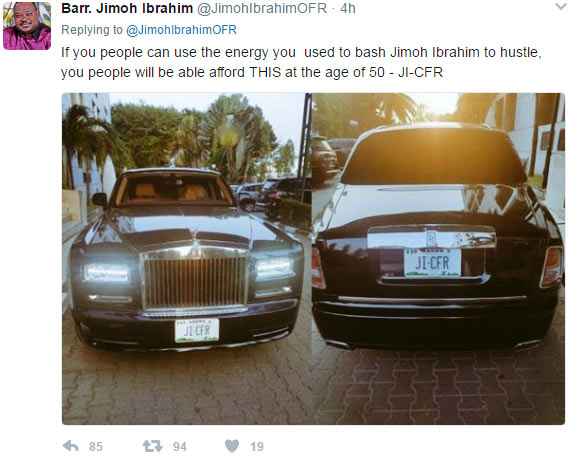 """Jimoh Ibrahim's reply to those blasting him for calling GEJ """"a notorious robber"""""""