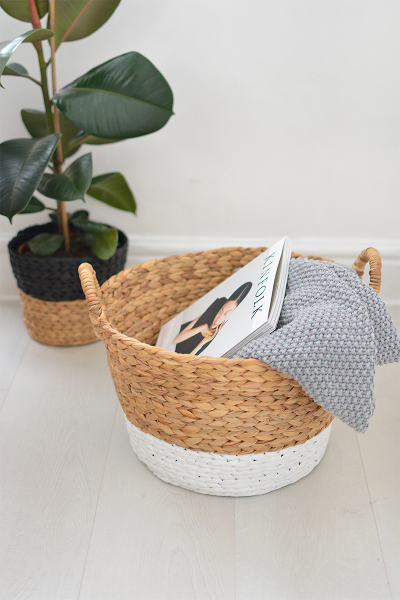 paint dipped basket DIY