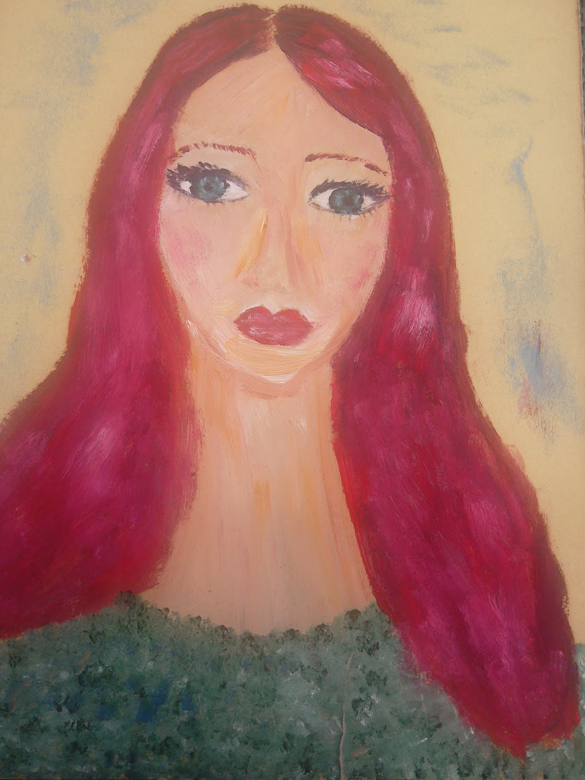 Oil Painting: My Art Lately #redhead
