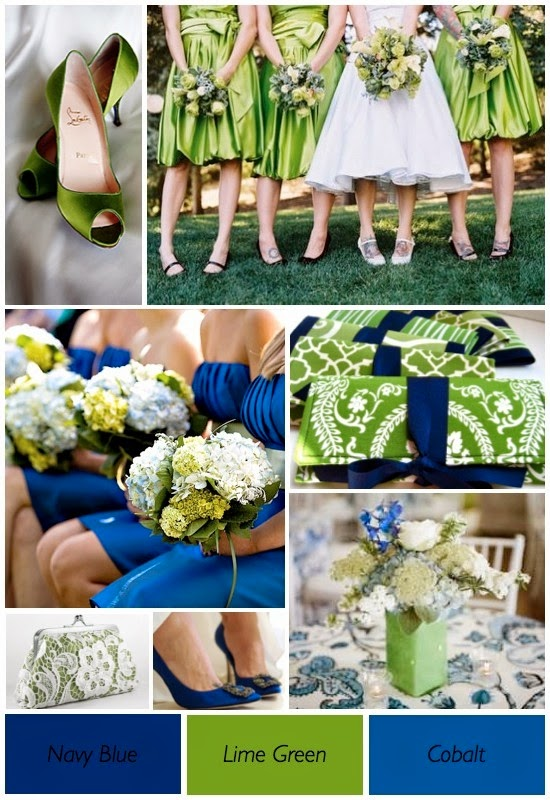 Lime Green And Blue Wedding Theme