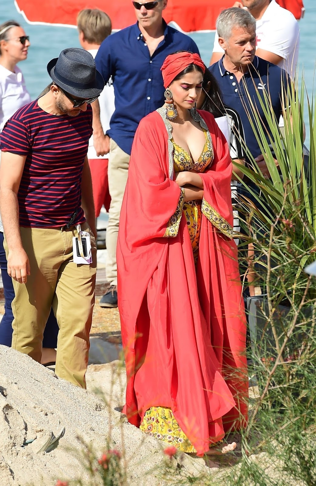 Sonam Kapoor Backstage Pics for a Beach Side shoot at Cannes Film Festival 2017
