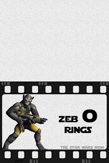 Zeb O Rings Star Wars Rebels Party Food Label Free Printable