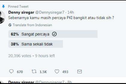 Ahoker Denny Siregar Bikin Polling Tentang PKI, Hasilnya Mengejutkan Karena Tak Seperti Yang Diinginkan