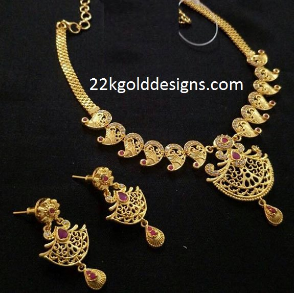 Rs.1295 Imitation Mango Necklace Set