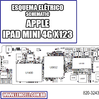 Esquema Elétrico Smartphone Apple Ipad Mini 4G X123 Manual de Serviço  Service Manual schematic Diagram Cell Phone Smartphone Celular Apple Ipad Mini 4G X123     Esquematico Smartphone Celular Apple Ipad Mini 4G X123