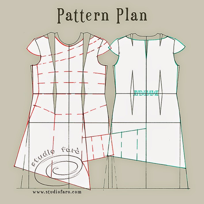 Well Suited Pattern Puzzle Flare And Gather Dress