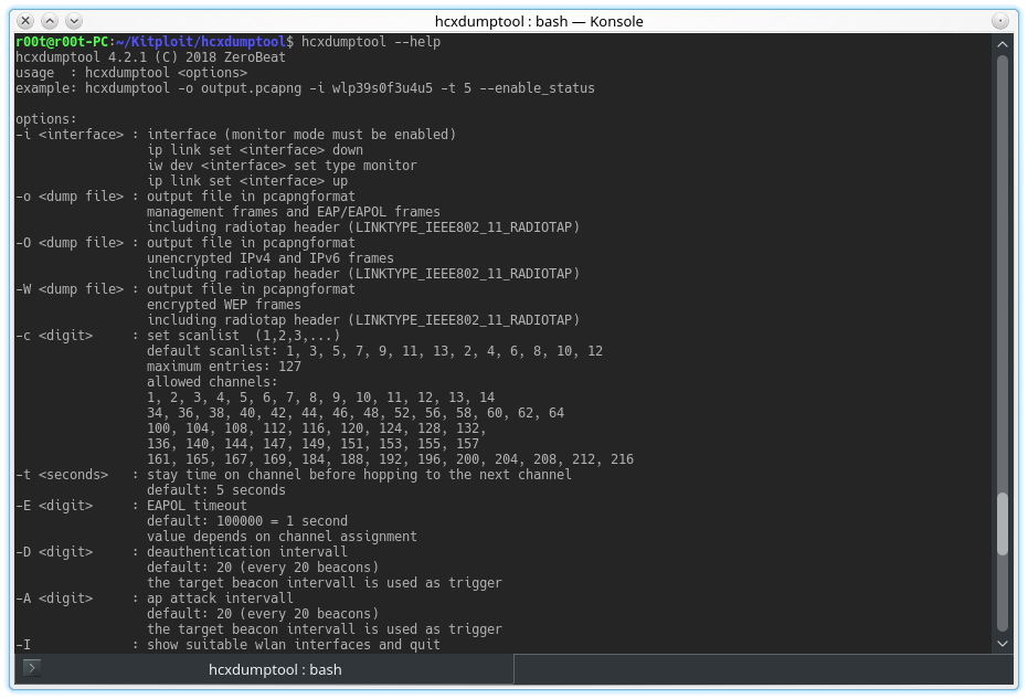 Hcxdumptool - Small Tool To Capture Packets From Wlan Devices