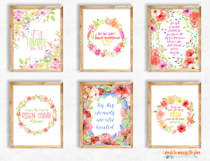 Six Easter Printables