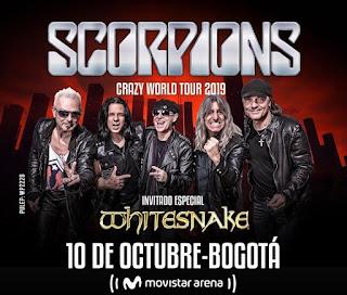 Concierto SCORPIONS en Bogotá 2019