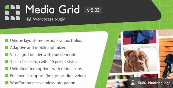 Media Grid v5.03 - Wordpress Responsive Portfolio