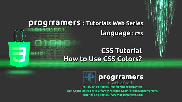 CSS Tutorial - CSS Colors