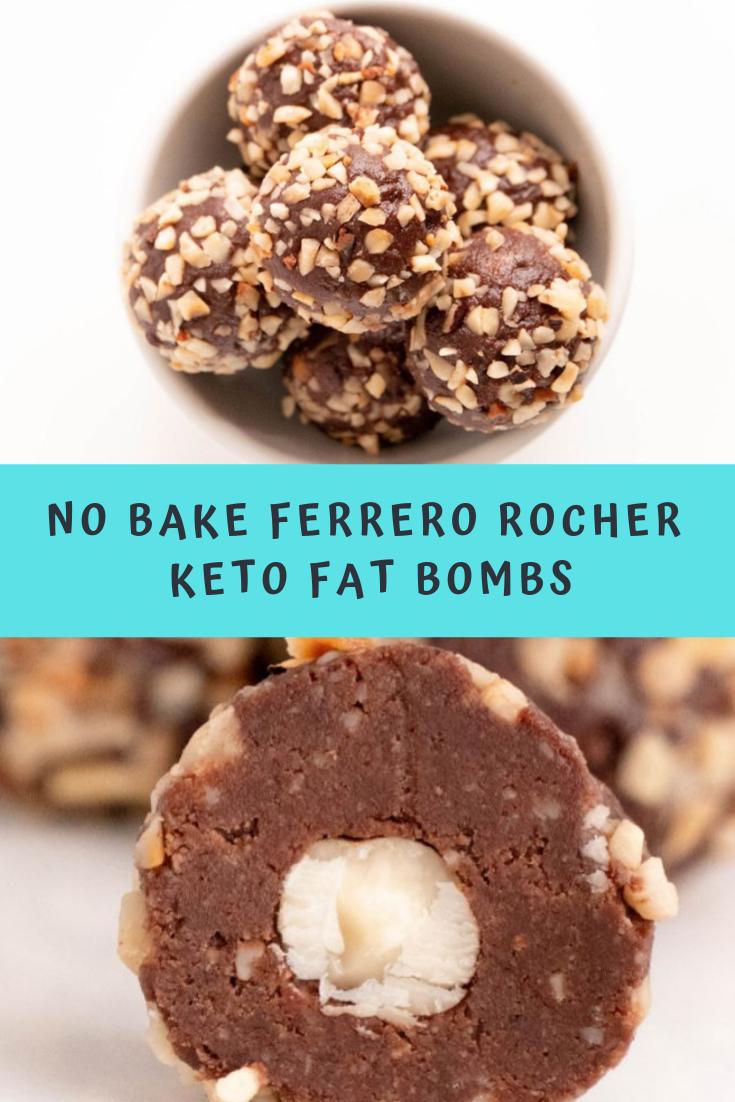 No Bake Ferrero Rocher Keto Fat Bombs  Recipe