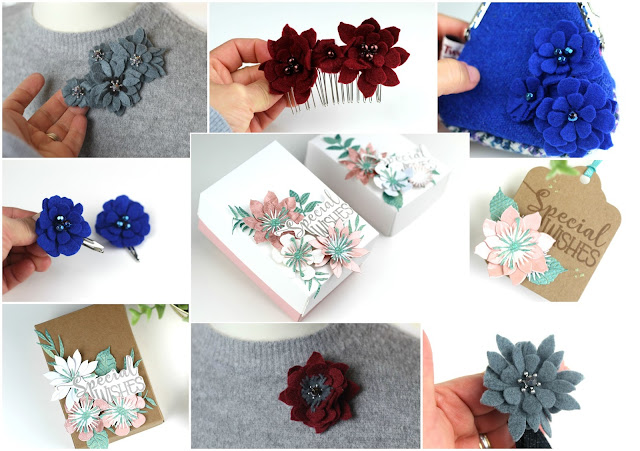 9 easy ideas with floral dies felt beads and paper flowers hello mightylinksfo