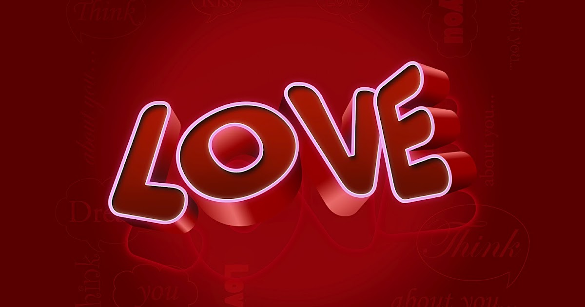 Love fondo rojo - Fondos de Pantalla HD - Wallpapers HD