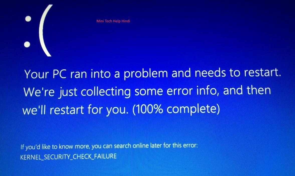 How To Fix Blue Screen Of Death Error In Windows 10 |Mini